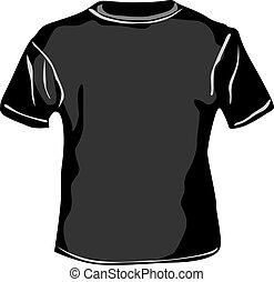 Vector - TShirt - Black TShirt on white background vector...