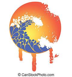 tsunami - vector tsunami illustration