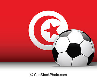 Turkey Soccer Ball with Flag Background