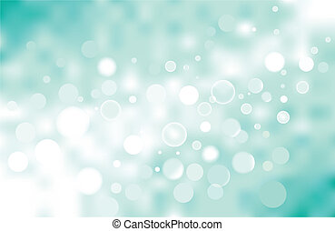 vector turquoise bokeh background, no transparencies were...