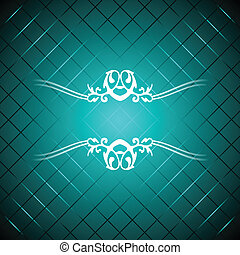 Vector turquoise luxury background