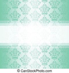Vector turquoise wallpaper