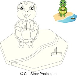 vector turtle coloring page