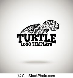 Vector Turtle logo template for sport teams, business etc.