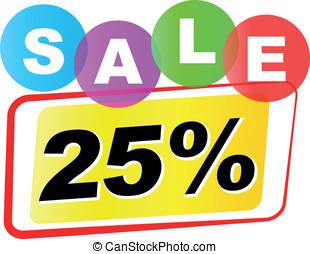 Vector twenty five percent sale icon