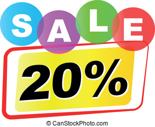 Vector twenty percent sale icon