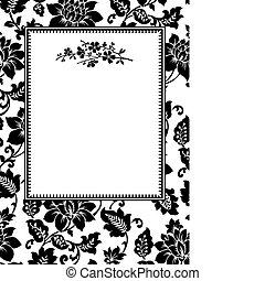 Vector Twig Frame - Vector decorative frame. Easy to scale ...