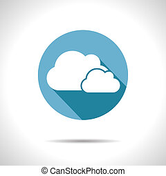 Vector two clouds icon. Eps10