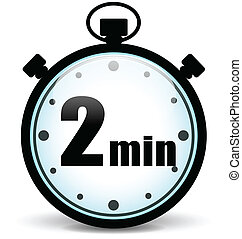 Vector two minutes icon - Vector illustration of two minutes...