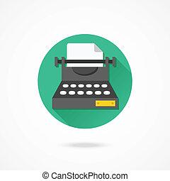 Vector Typewriter Icon