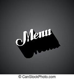 vector typographic illustration of handwritten Menu retro label. lettering composition