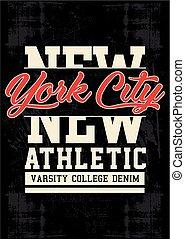 vector typography new york city