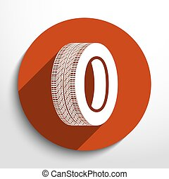 Vector tyre web icon.