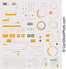 Vector UI dials set