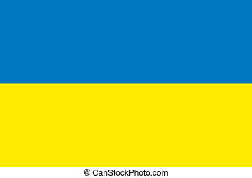Ukraine flag - Vector Ukraine flag