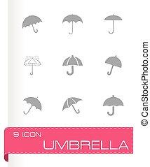 Vector umberlla icon set