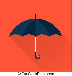 vector umbrella flat icon - simple cute vector umbrella flat...
