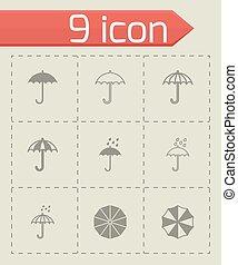 Vector umbrella icon set