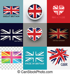 Vector Union Jack Flag Collection - Vector Union Jack...