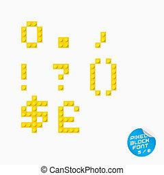 Pixel Block Alphabet - Vector Unique Pixel Block Alphabet...