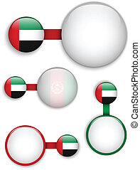Vector - United Arab Emirates Country Set of Banners