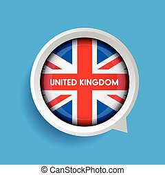 Vector - United Kingdom Flag button