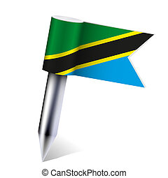 Vector United Republic of Tanzania flag isolated on white. Eps 10