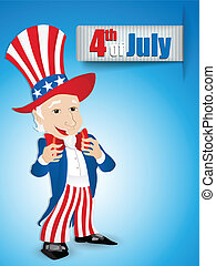 United States Independence Day Uncle Sam - Vector - United...