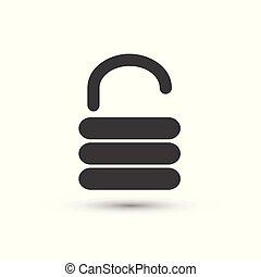 Vector unlock icon