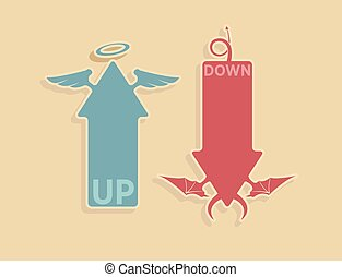 Vector up and down arrows