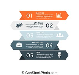 Vector up stairs arrows infographic, diagram chart, graph presentation. Business growth concept with 3 options, parts, steps, processes.