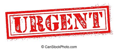 URGENT - Vector URGENT grunge stamp illustration