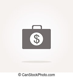 vector us dollar glossy icon on white background. Web Icon Art. Graphic Icon Drawing