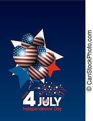 Vector USA 4 of july happy independence day design