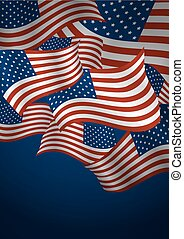 Vector USA flag background design