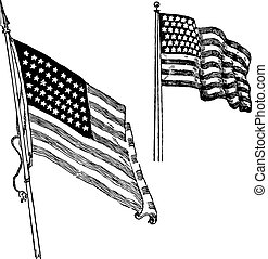 Vector USA Flag Set