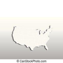 Vector USA map logo icon image