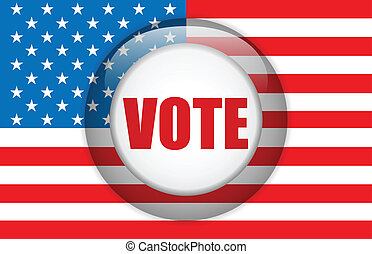 USA Vote Background with American Flag