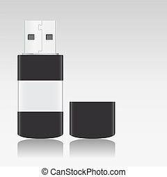 Vector USB Flash Drive with teflection