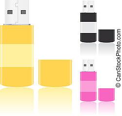 Vector USB Flash Drives