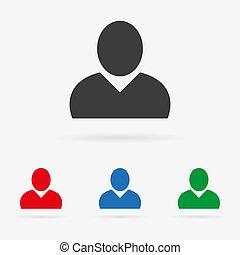 vector, usuario, iconos