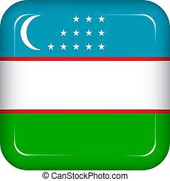 Vector uzbekistan flag