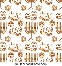 vector, vacaciones judías, seamless, patrón, hanukkah