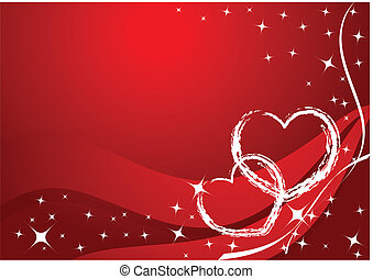 Vector valentine card - stars and hearts