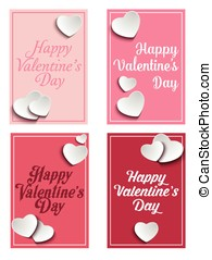 Vector - valentine card with paper