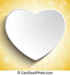 Valentine Day Heart on Gold Background