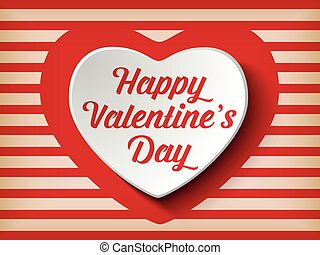 Vector - Valentine Day Heart on Retro Background