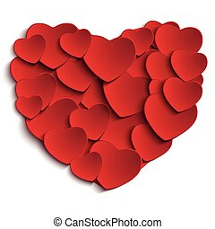 Vector - Valentine Day Heart on White Background