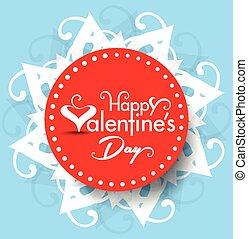 Vector valentine day Text