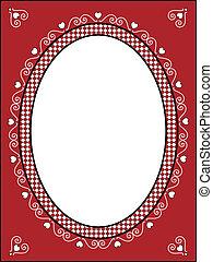 Vector Valentine Frame or Tag